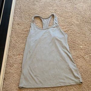 Grey Nike workout tank